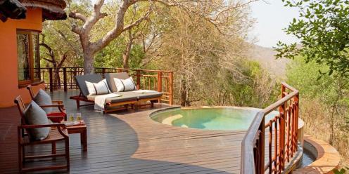 The safari lodge room pools